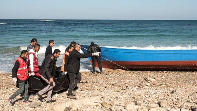 Libye : plus de 70 corps de migrants échoués