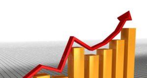 diagrammes de croissance économique de la flèche rouge â3 17564234