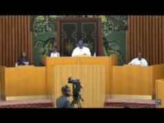 Plénière à l'Assemblée nationale