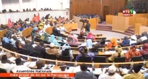 Vote de la Loi sur le Parrainage En Direct Assemblée Nationale