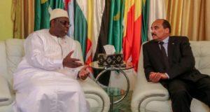 Le Président de la Mauritanie et le Président du Sénégal Macky Sall 1100x675 696x427