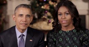 barack et michelle obama adressent leurs voeux de noel aux americains