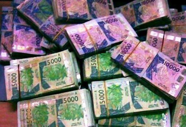 liasse argent billet banque zone CFA