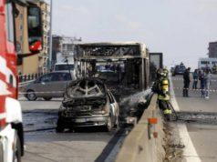 bus incendié en Italie