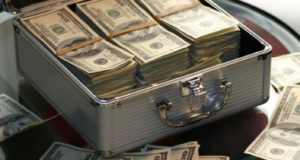 argent dollars valise richesse fortune devise