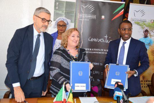 Vice ministre italienne et Amadou Hott